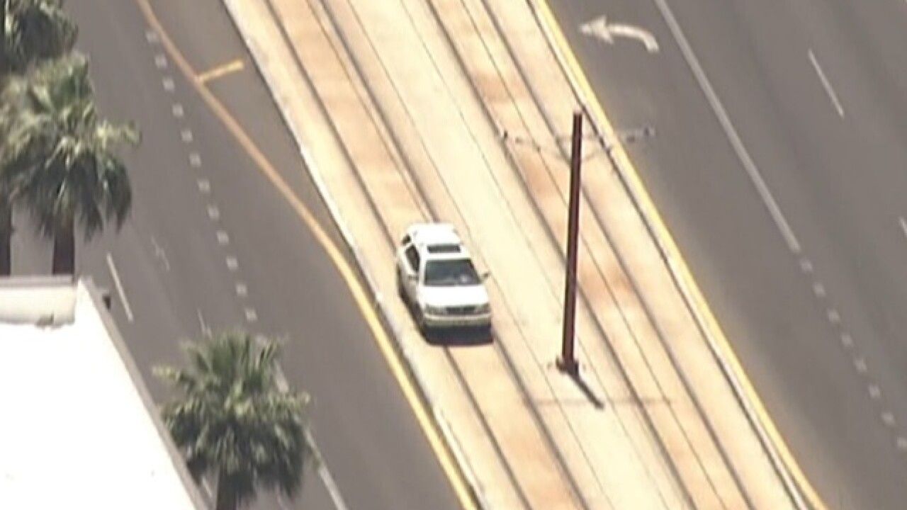 Police searching for pursuit suspect in Phoenix