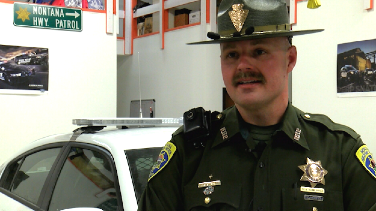 Montana State troopers grow facial hair for cancer awareness