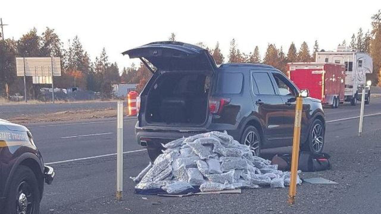 Oregon trooper finds over 200 lbs. of pot