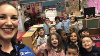 Weather visit to Bradford Elementary