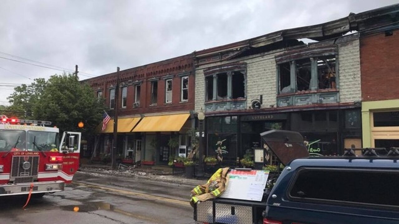 Massive fire damages historic downtown Loveland