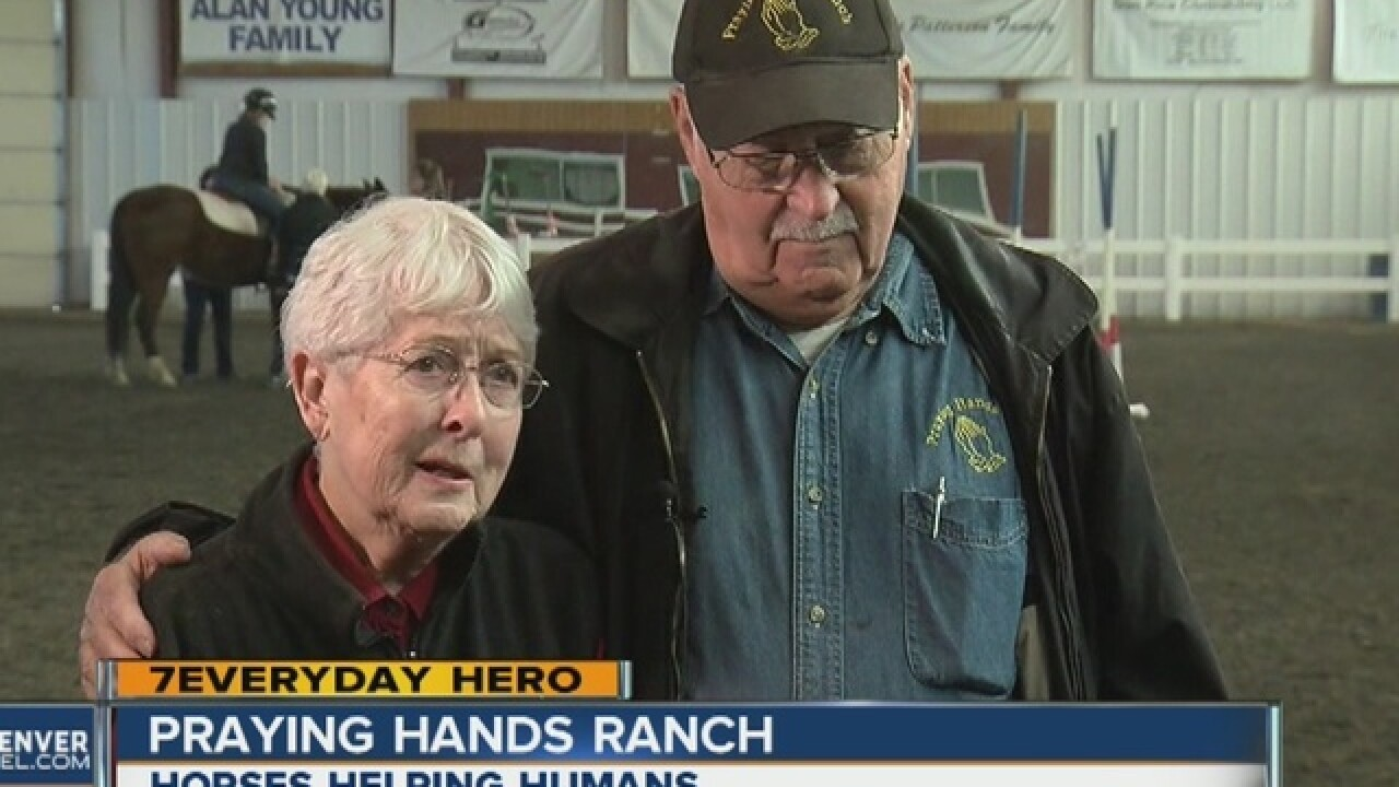 Praying Hands Ranch uses horses to help people