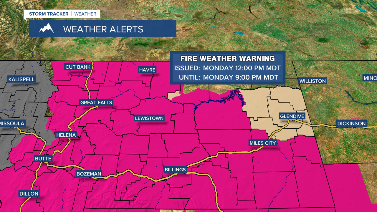 Red Flag Warning for Monday