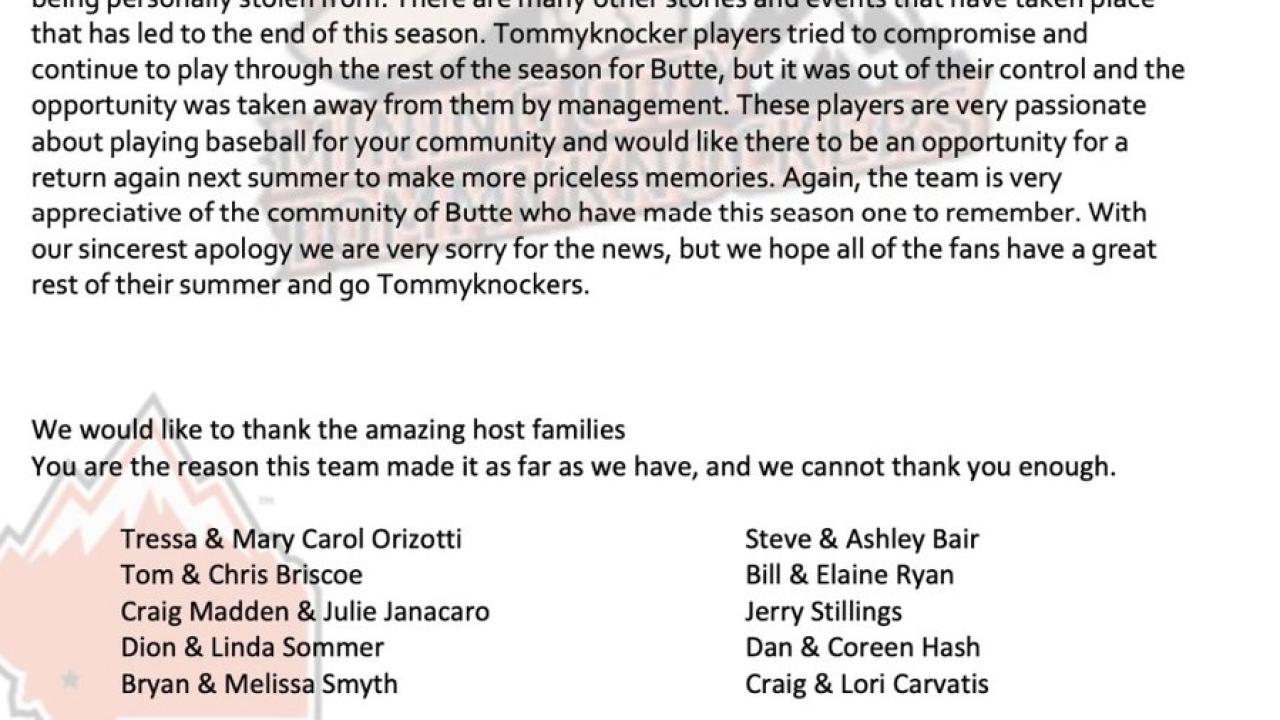 Tommyknockers release