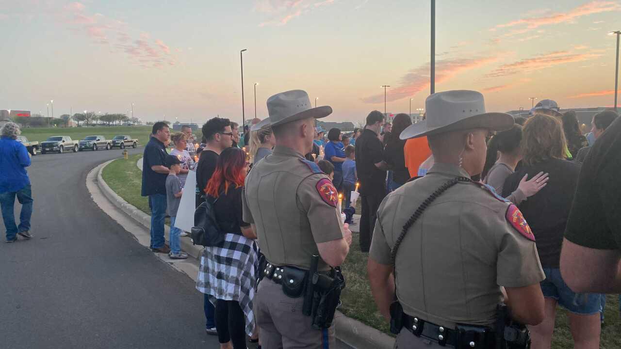 Prayer Vigil for Trooper Walker in Waco