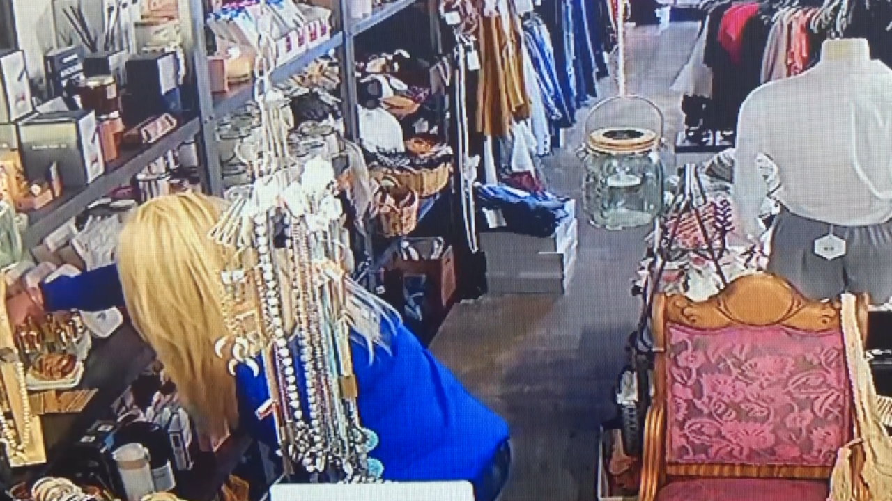 Caught on video: Thief chats, steals from North County boutique