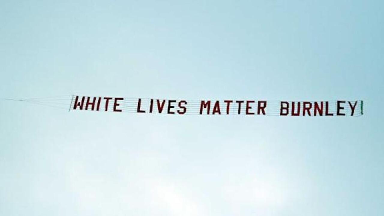 Soccer team condemns fans that flew 'White Lives Matter' banner during match