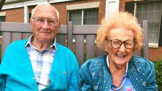 He's 100, she's about to turn 103, and they just got married