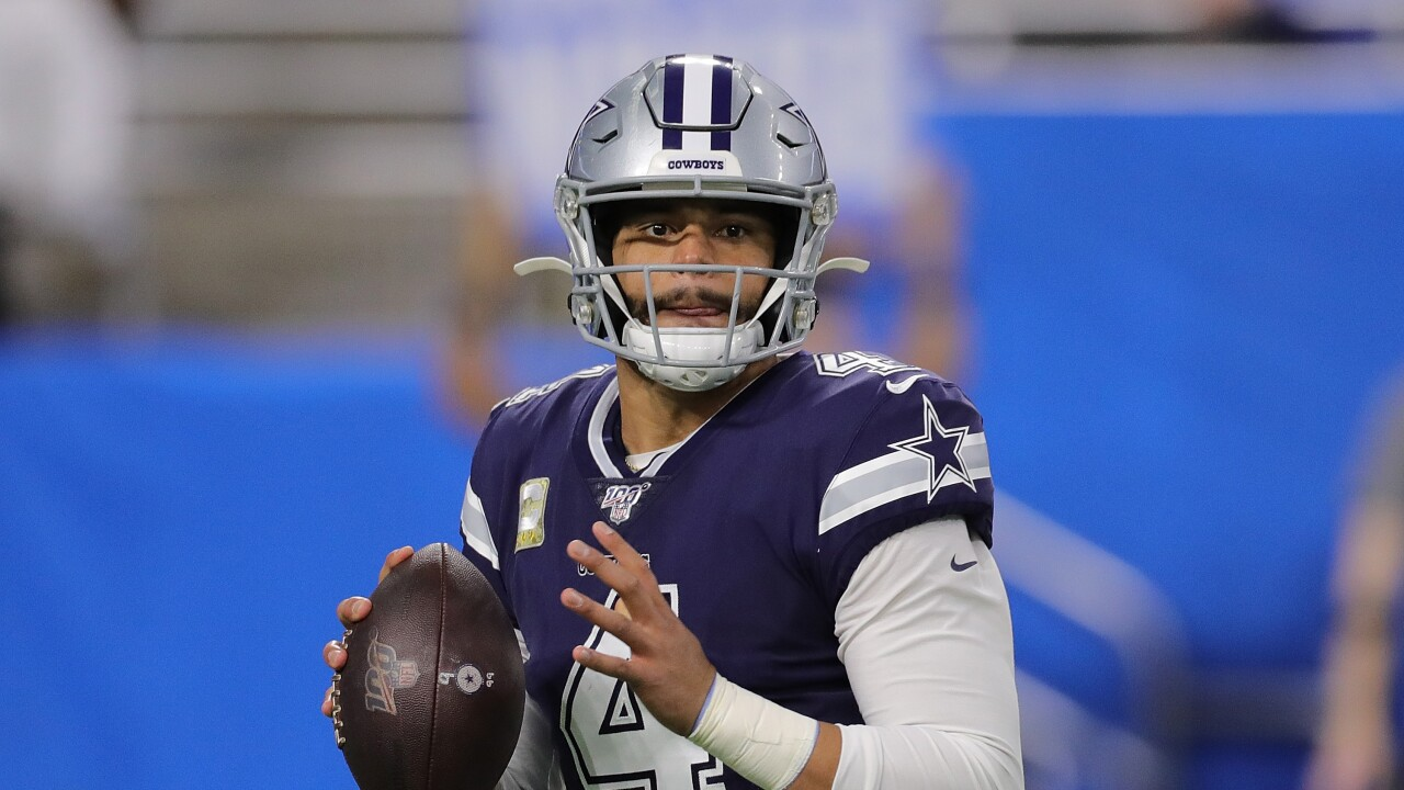 Cowboys quarterback Dak Prescott is held out of practice with a shoulderinjury