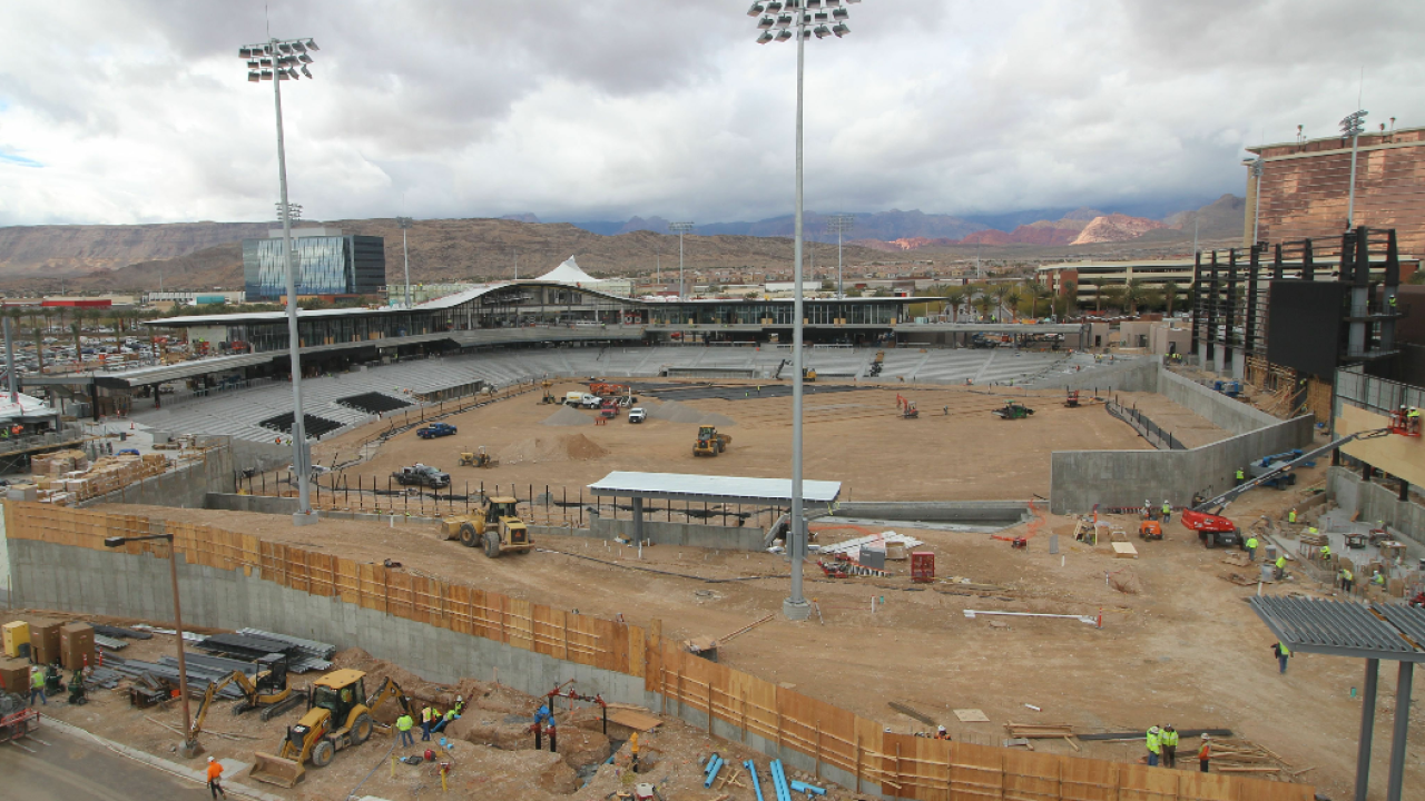 Las Vegas Ballpark construction