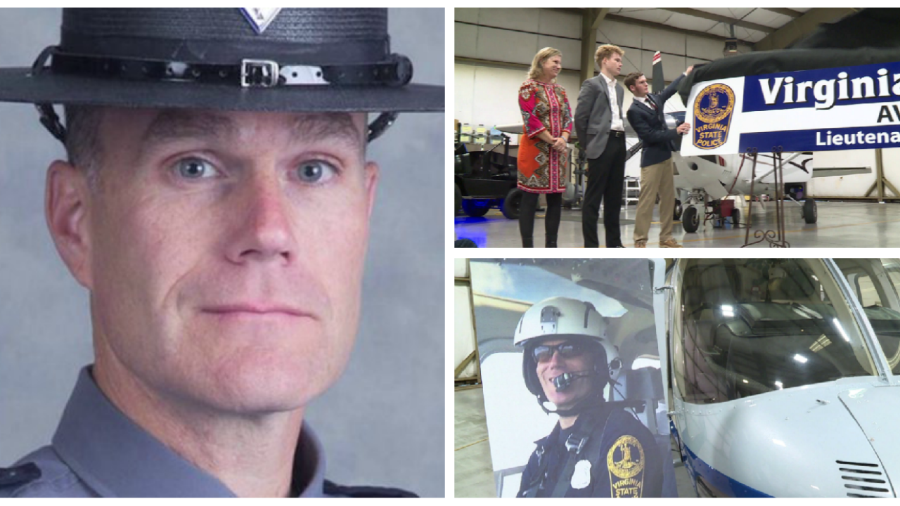 Chesterfield aviation hangar renamed for Trooper killed in Charlottesvillecrash