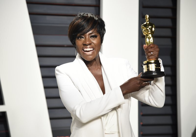 Davis after her 2017 Oscar win. (Photo by Evan Agostini/Invision/AP, File)