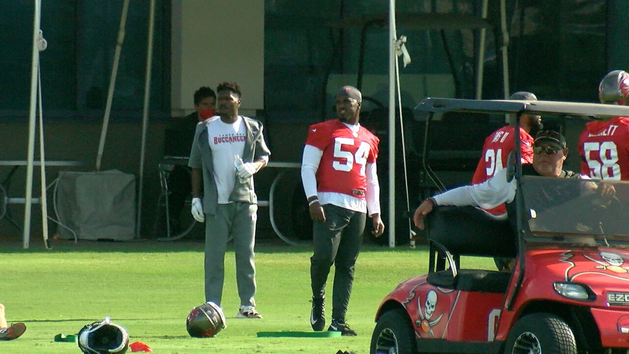 Tampa Bay Buccaneers players and coaches at a June 8 mandatory minicamp