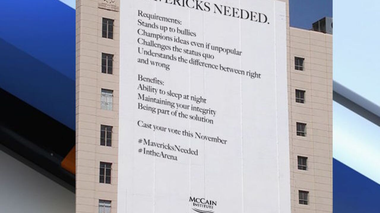 'Mavericks needed' - McCain Institute enters election with new slogan