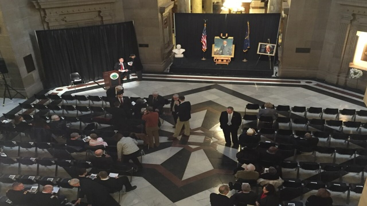 PHOTOS: Memorial for former Governor Whitcomb