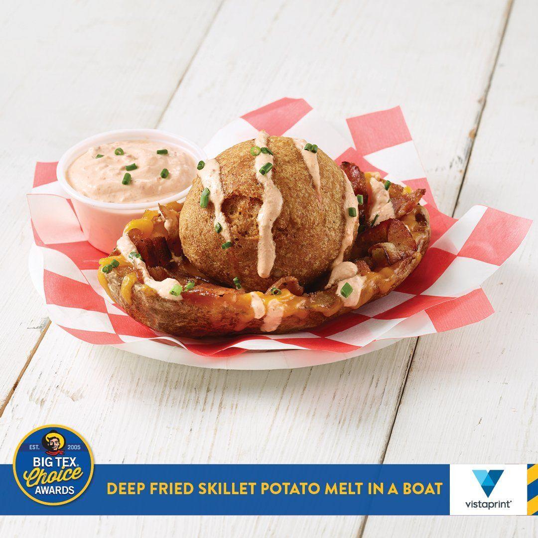 Deep Fried Skillet Potato Melt in a Boat