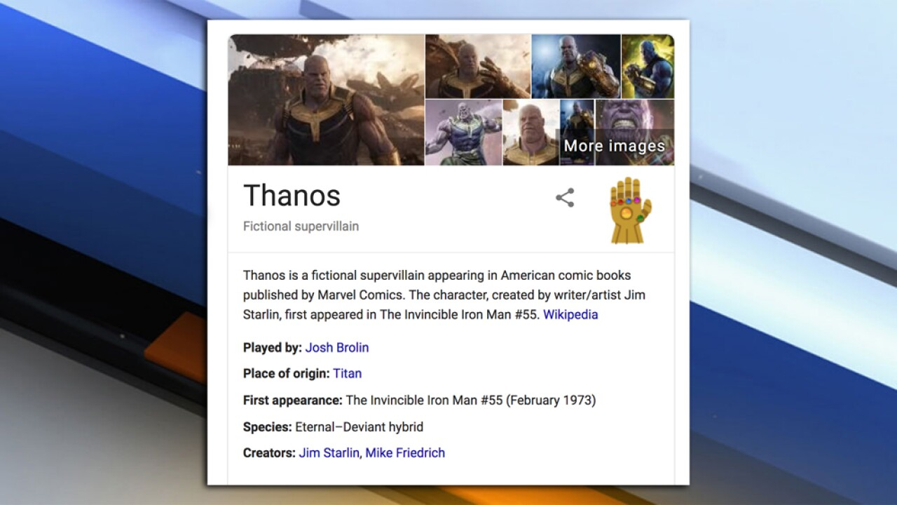 Oh snap! Google 'Thanos' and see what happens