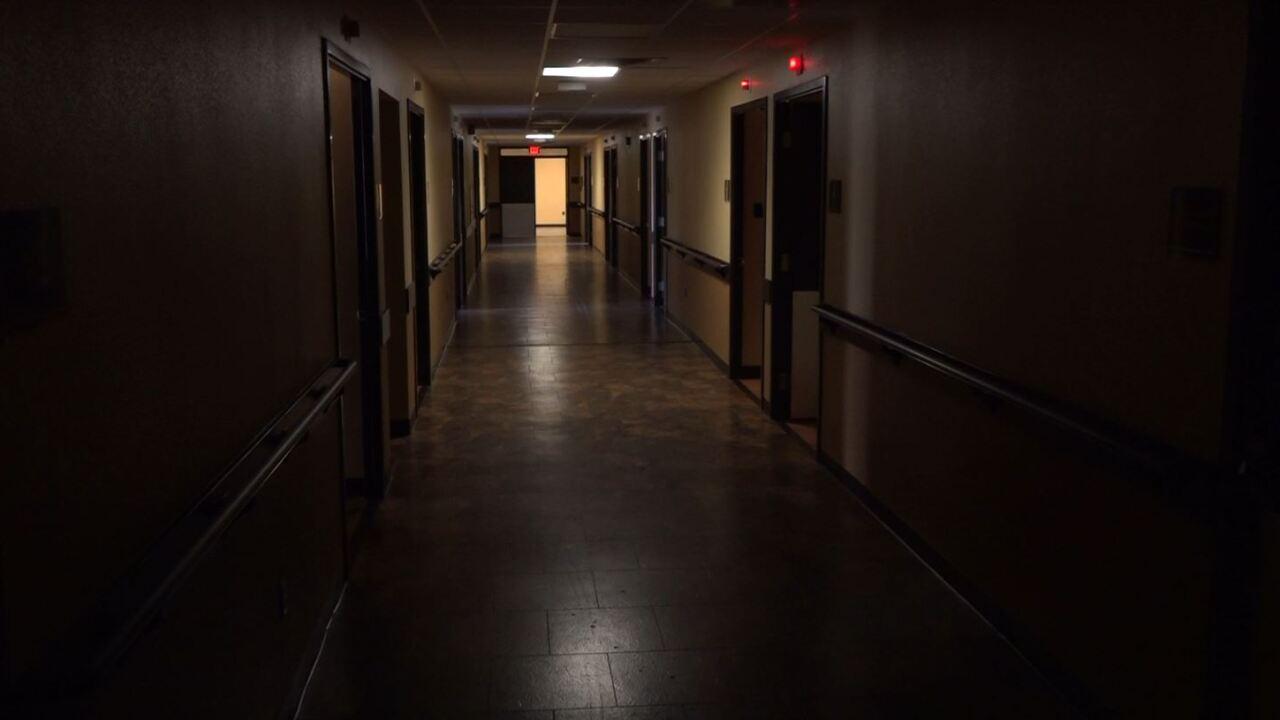 Dark hallways at Riverdale Hospital