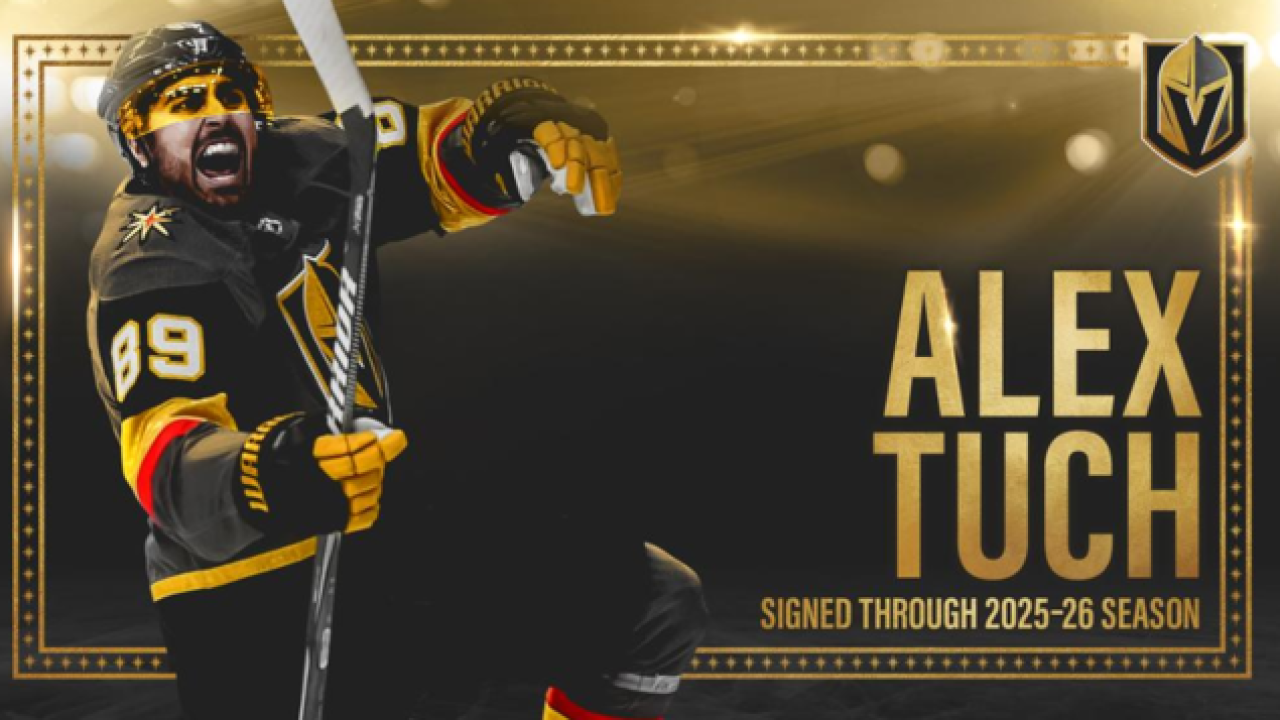 best sneakers 335be bca9c Golden Knights sign Alex Tuch to 7-year extension