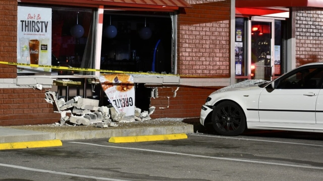 Suspected drunk driver crashes into Waffle House