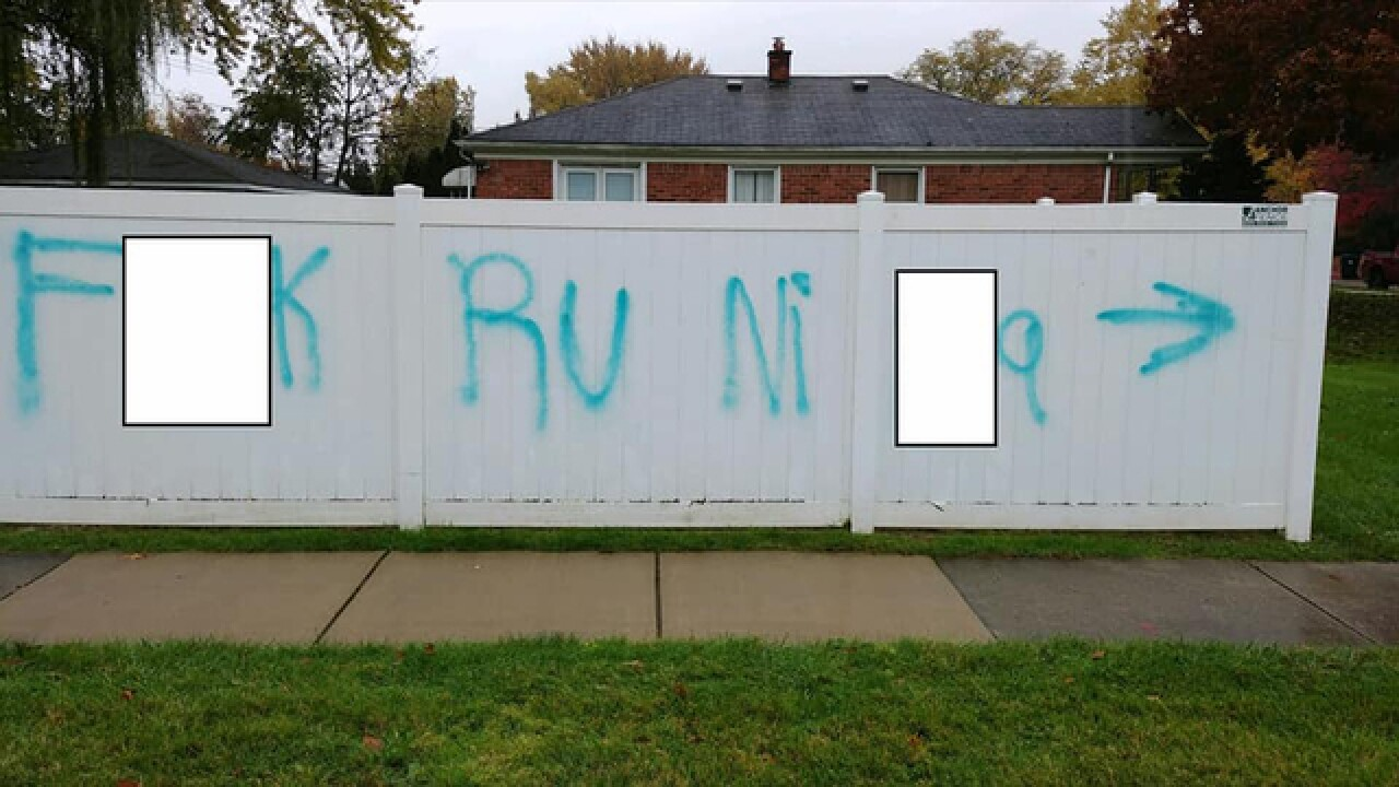 Police looking for person who spray-painted racial slurs at Redford Union High School