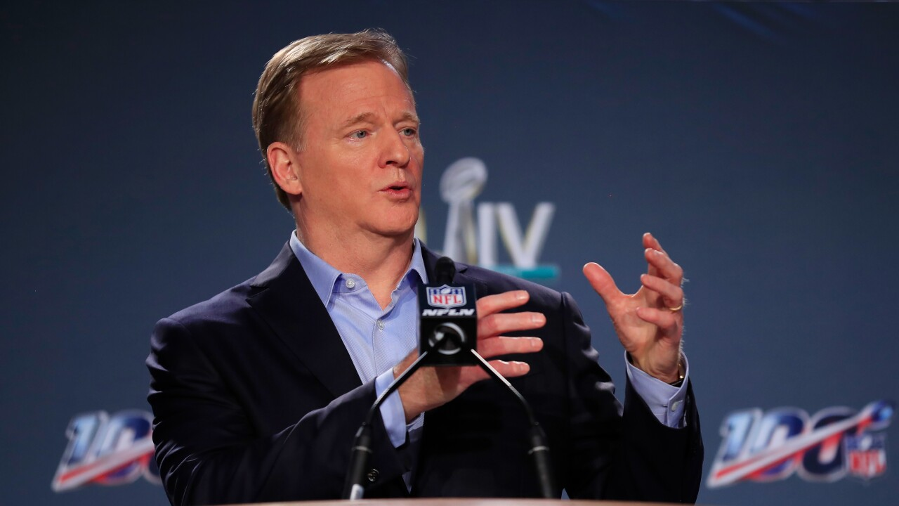 NFL Commissioner Roger Goodell Super Bowl Press Conference