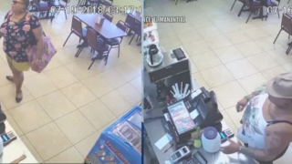 Woman asks for water, then steals tips