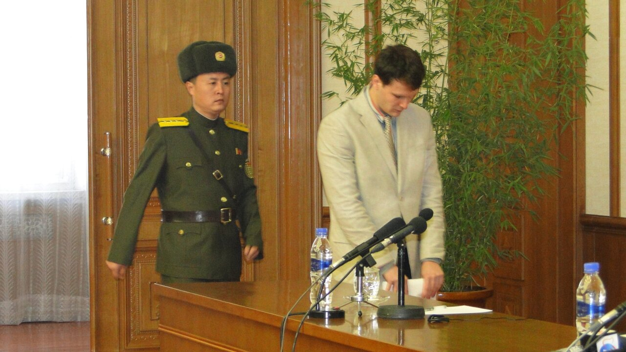 University of Virginia student detained in North Korea confesses to 'hostile act'