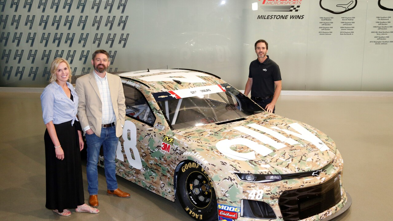 NASCAR champion Jimmie Johnson to honor military hero from Hampton