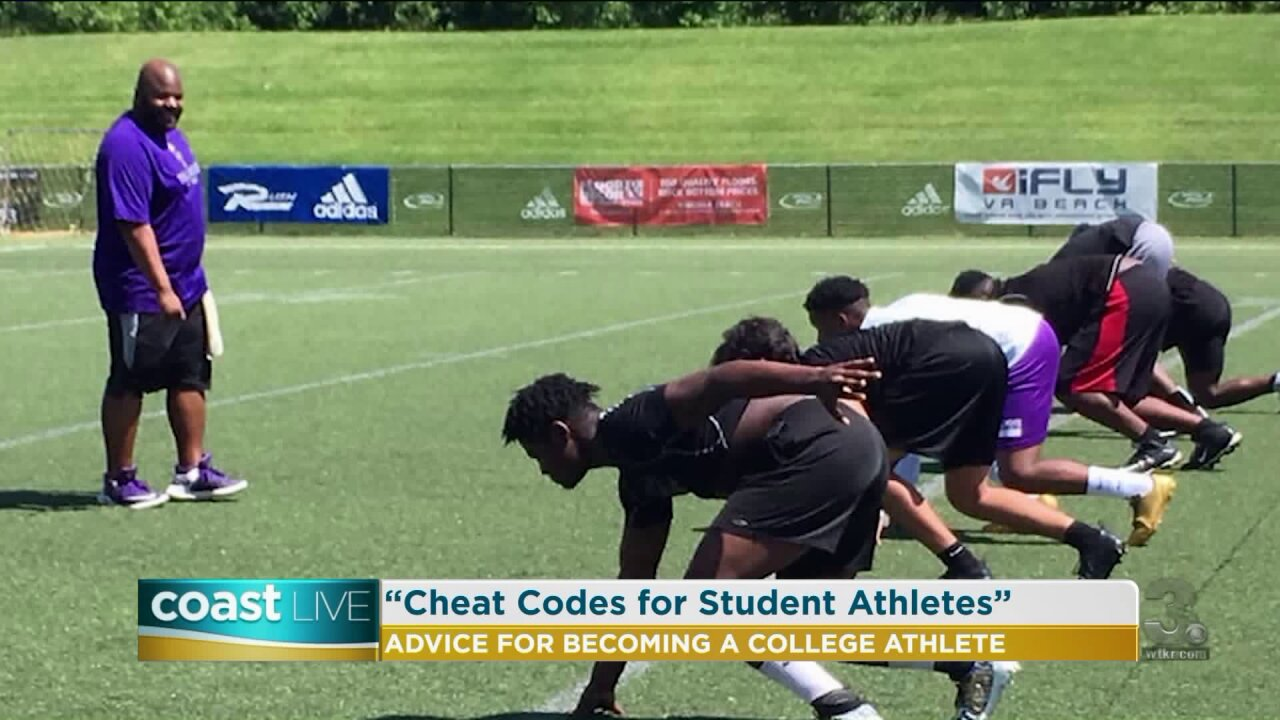 Speaking with a local author about issues faced by student athletes on CoastLive