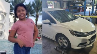 Yaceny Berenice Rodriguez-Gonzalez, 10, and car involved in deadly Fort Pierce hit-and-run crash on Sept. 23, 2021.jpg