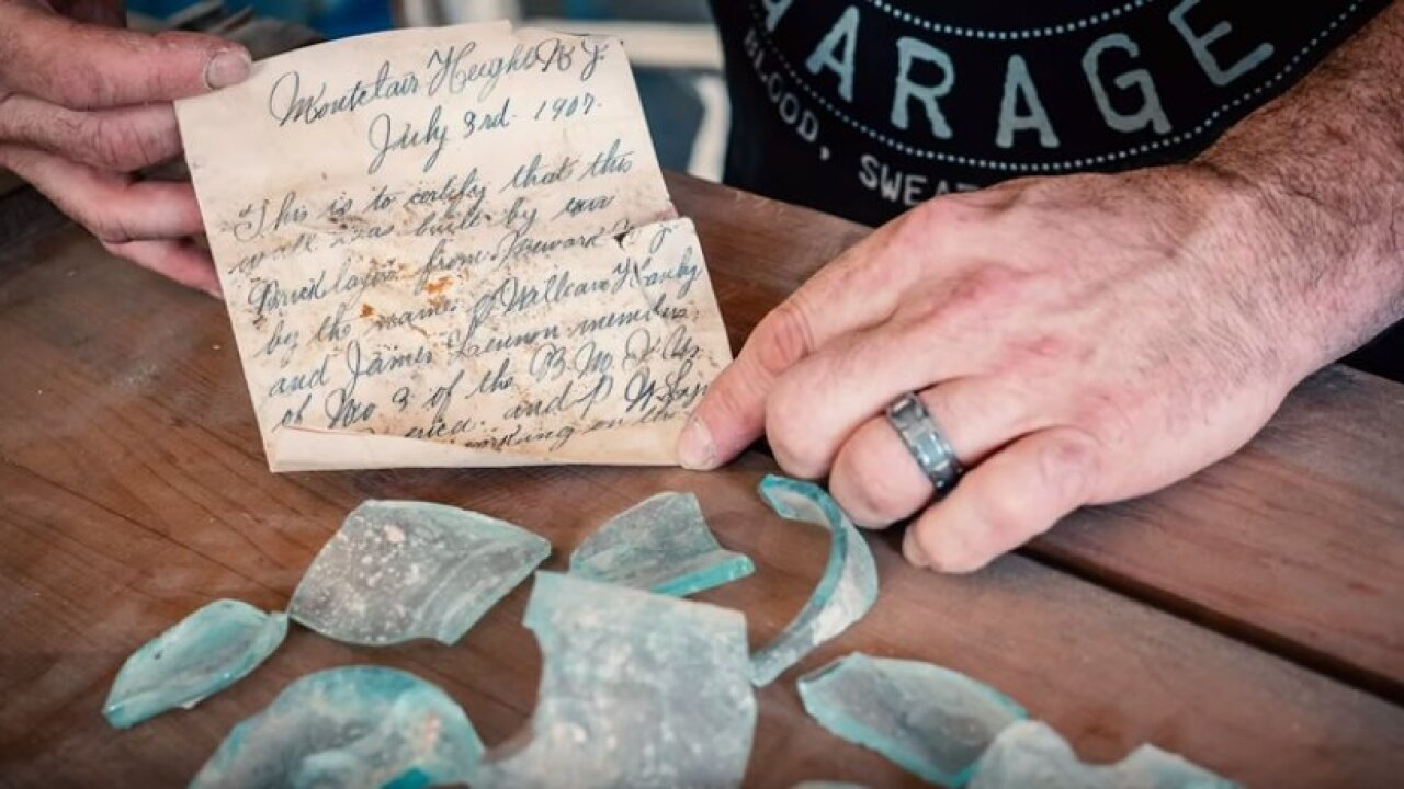 Pictures of 112 year old letter found at Montclair State