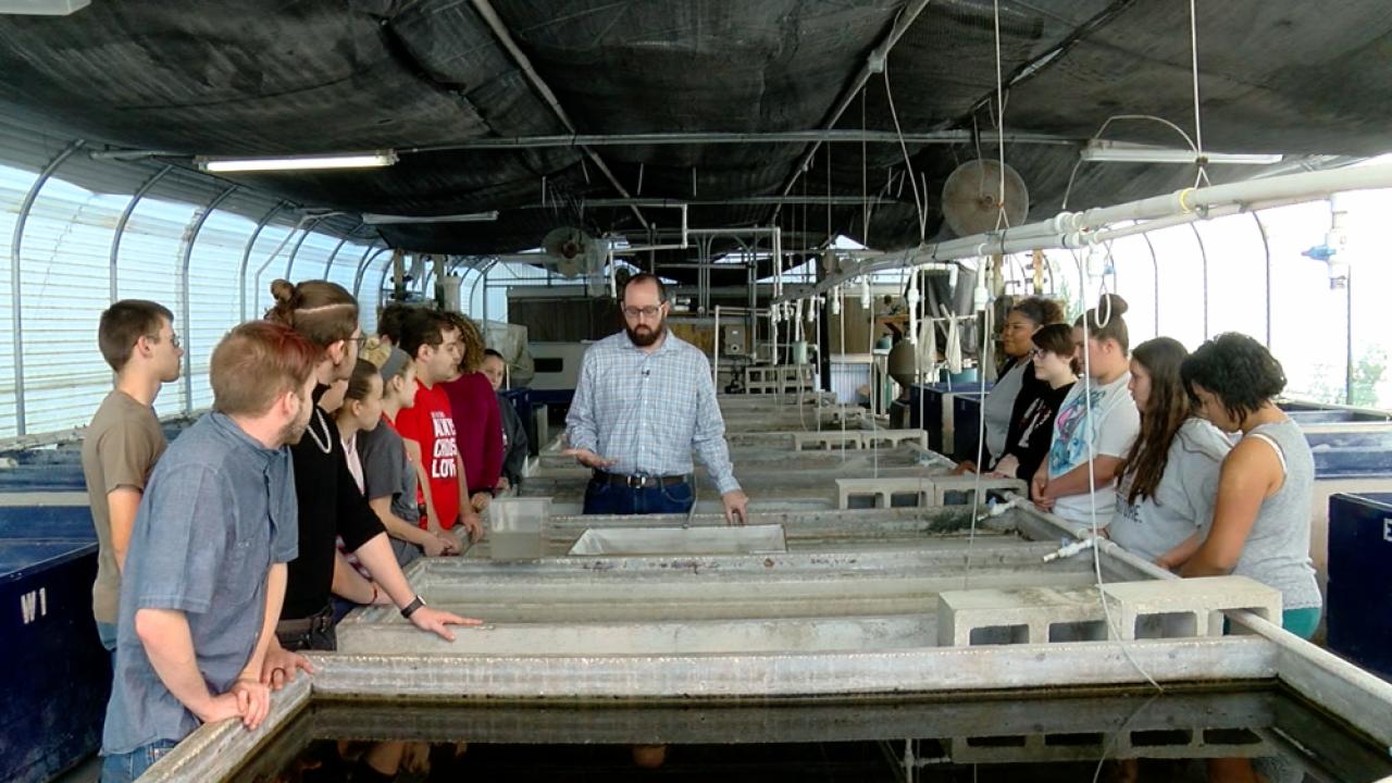 Aquaculture class East Bay High School