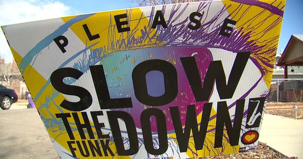 Denver drivers urged to 'slow the funk down'