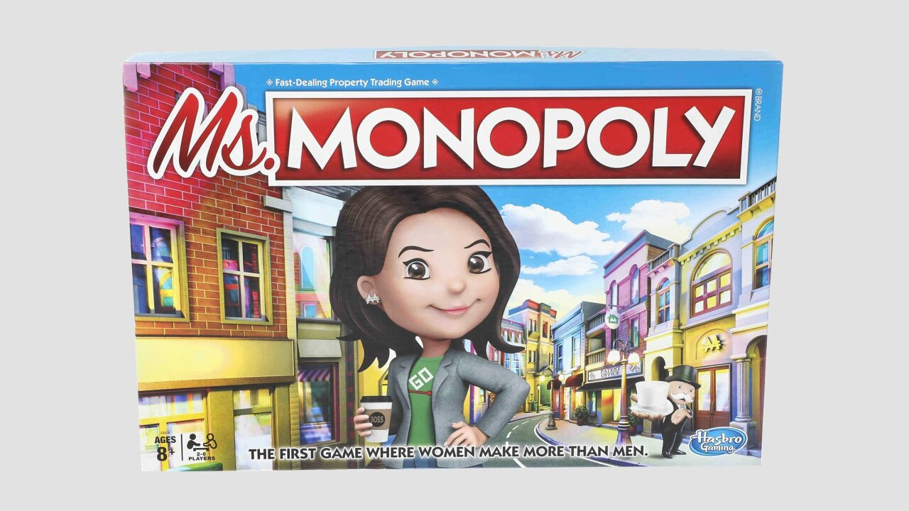 In the new game of Monopoly, women make more than men