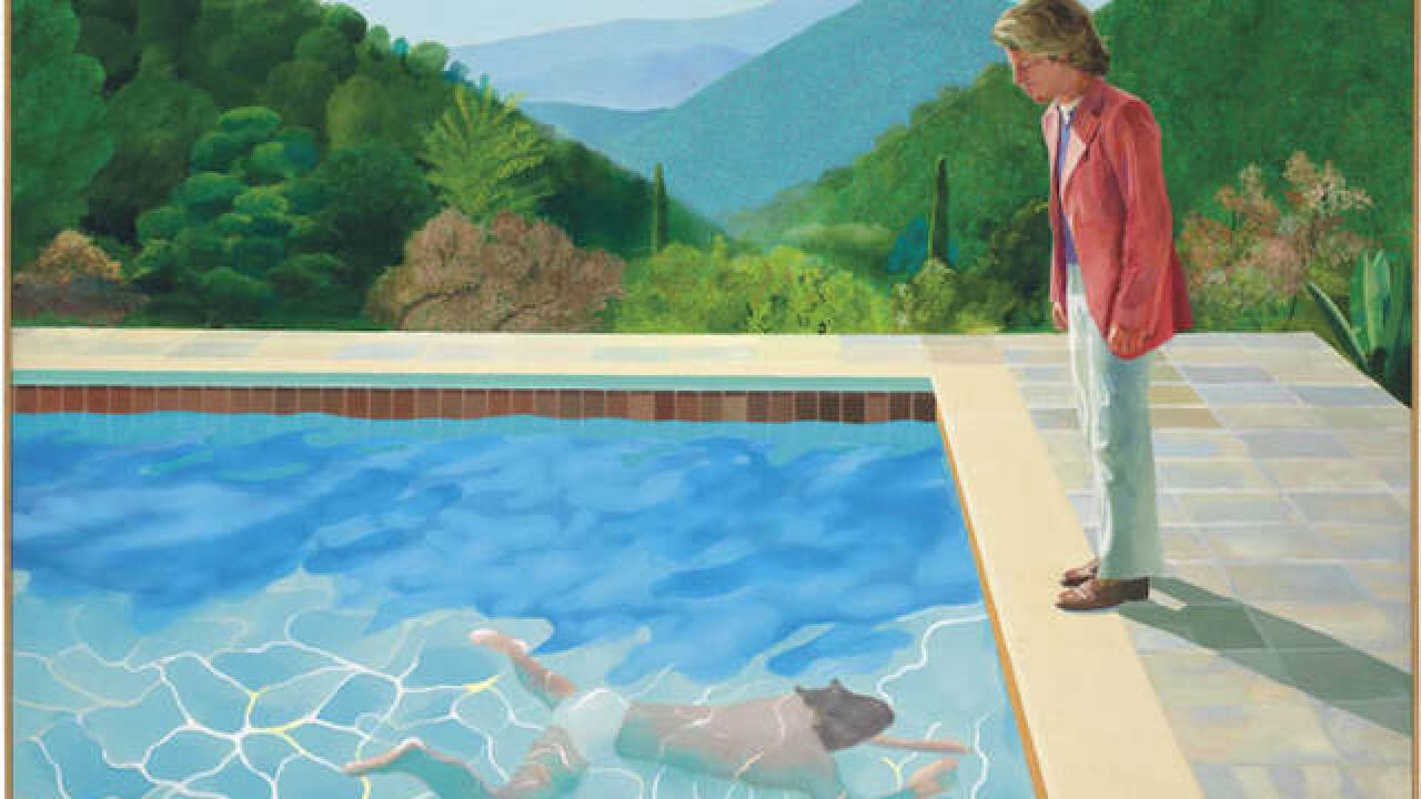 David Hockney painting sells for $90M, smashing auction records