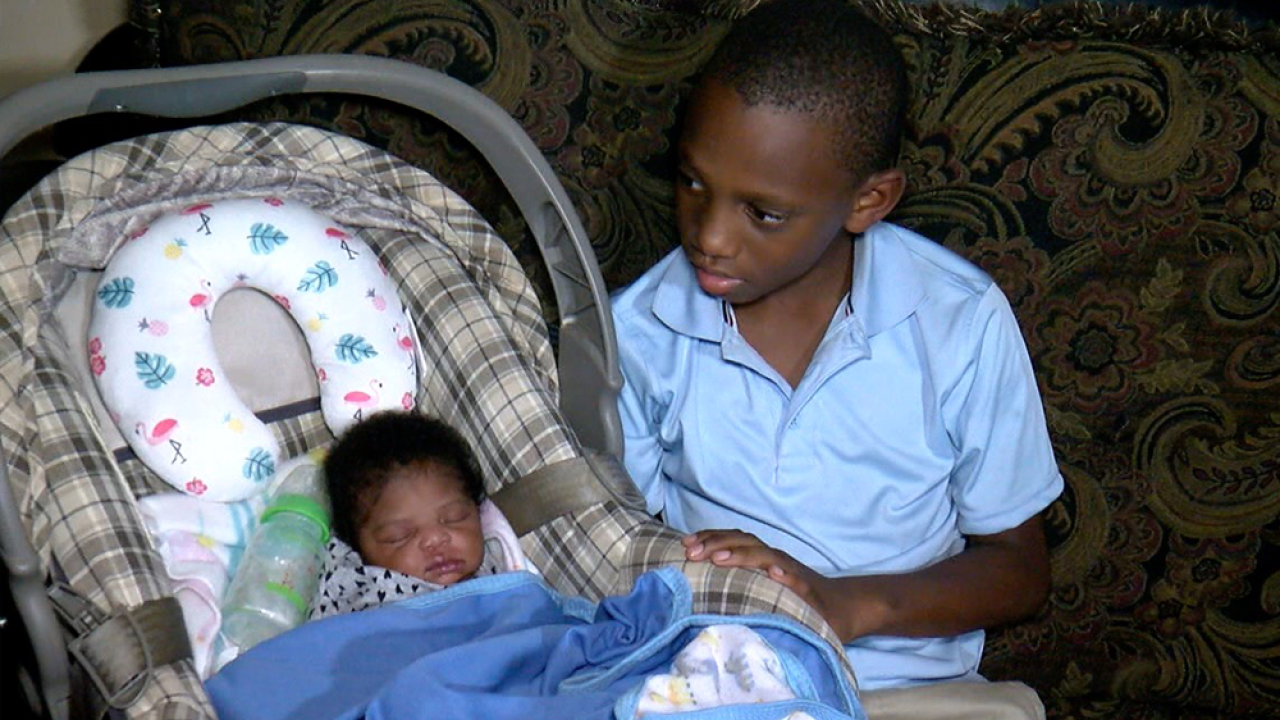 Image result for 'I Feel Like a Hero': 9-Year-Old Tampa Boy Helps Mom Deliver Baby Sister