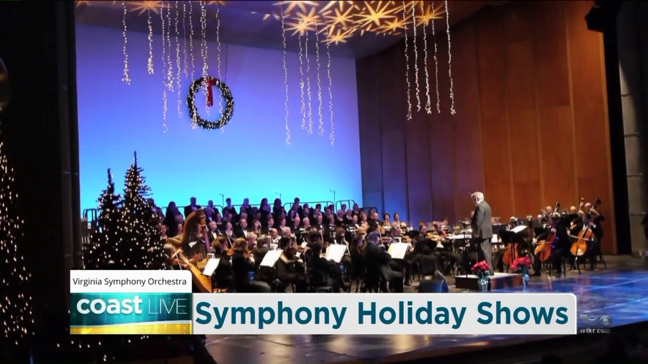 A preview of Virginia Symphony Orchestra's holiday shows on Coast Live