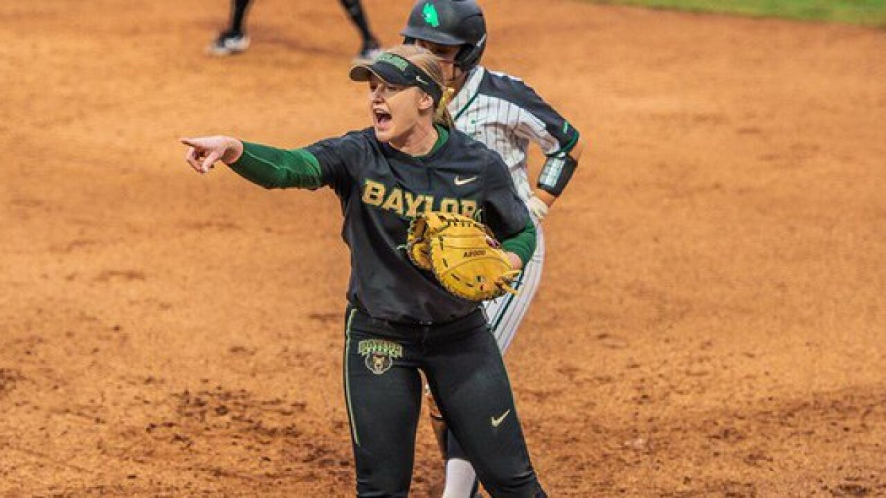 BAYLOR SOFTBALL PLAYS TEXAS STATE