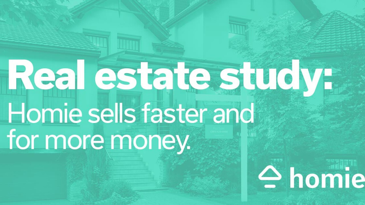 ADDING MULTIMEDIA Academic Study Reveals Homie Is Selling Homes Faster and for More Money Than Traditional Real Estate Brokers