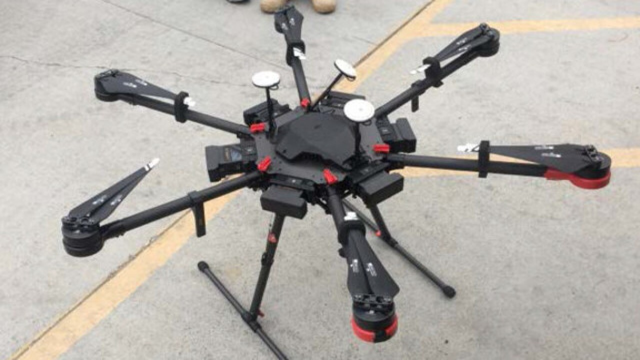 Drone caught flying packages of meth over border