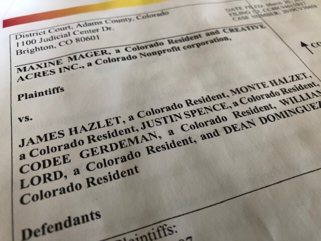 Lawsuit filed in Adams County District Court