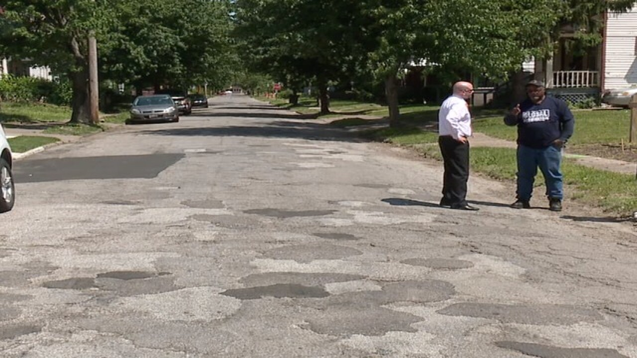 Cleveland man fed up with terrible streets