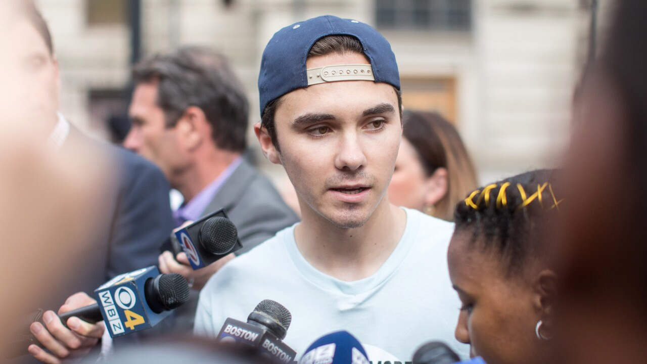 Parkland Shooting Survivor And Activist David Hogg Leads March Against Gun Violence In Massachusetts