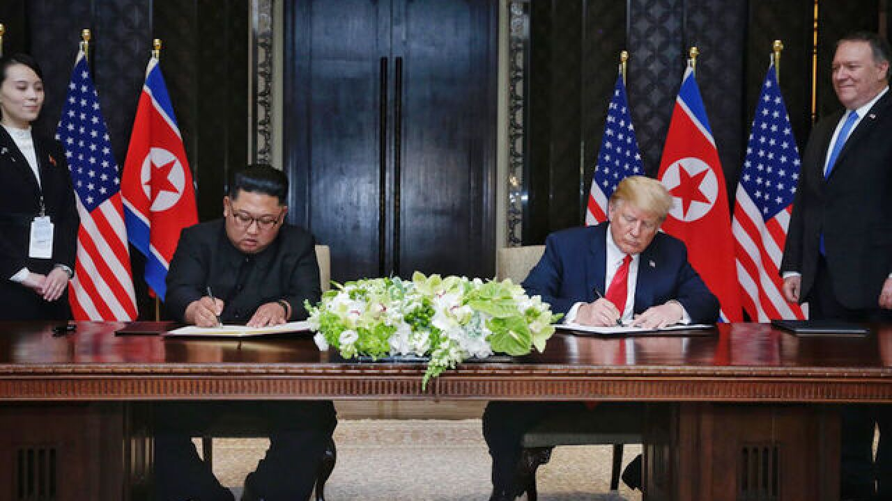 Read the full text of the Trump-Kim signed statement