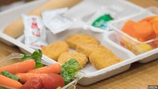 PHOTO: A school lunch
