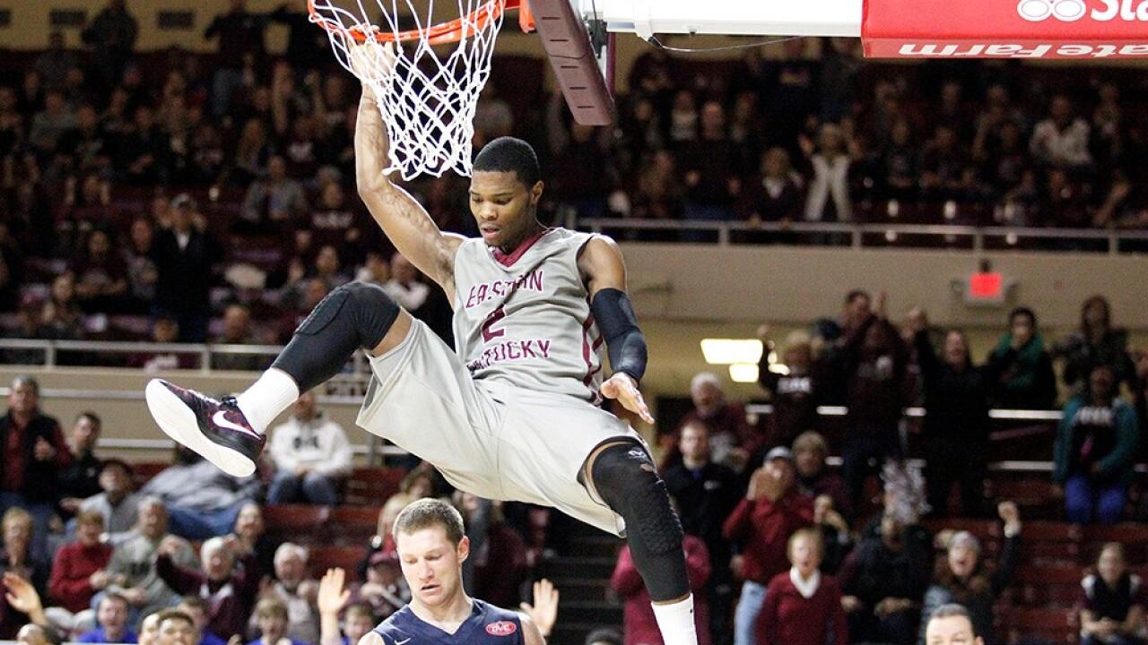 Corey Walden with the slam at EKU - Photo by EKU Athletics