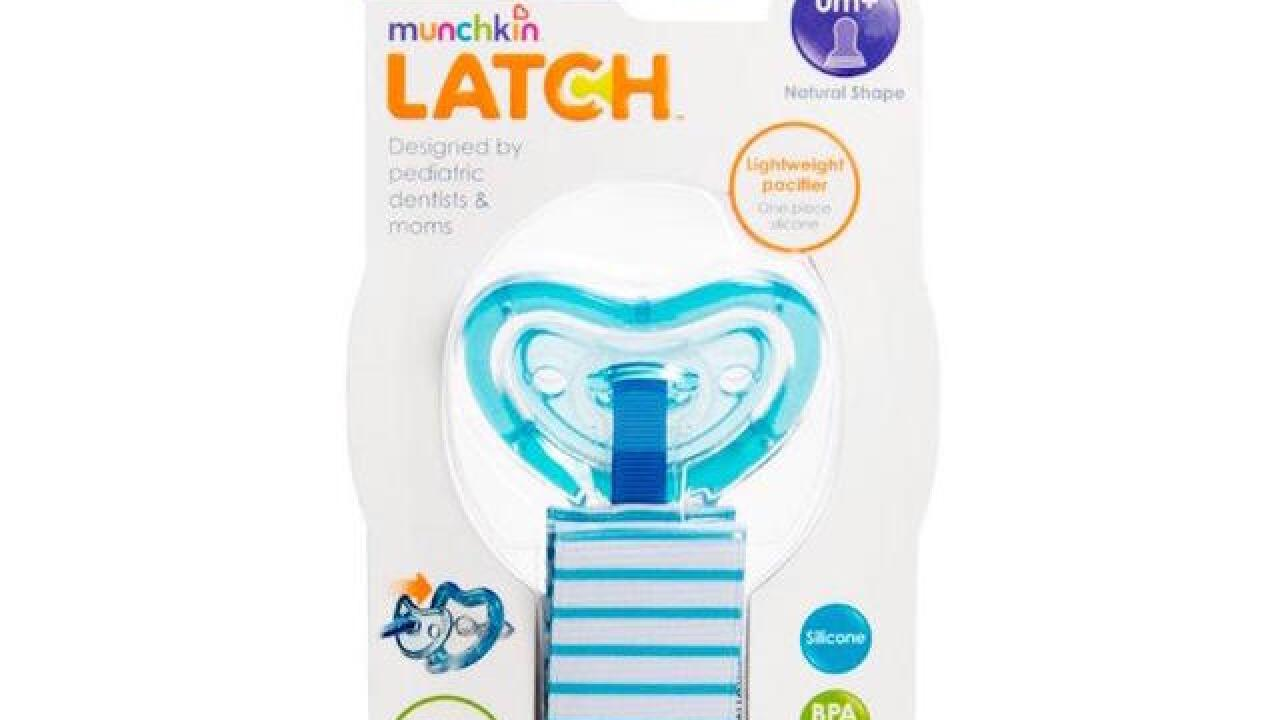 Munchkin issues recall for certain pacifiers