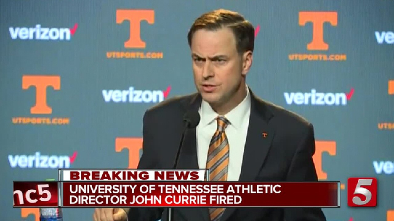 Reports: Tennessee Fires AD John Currie