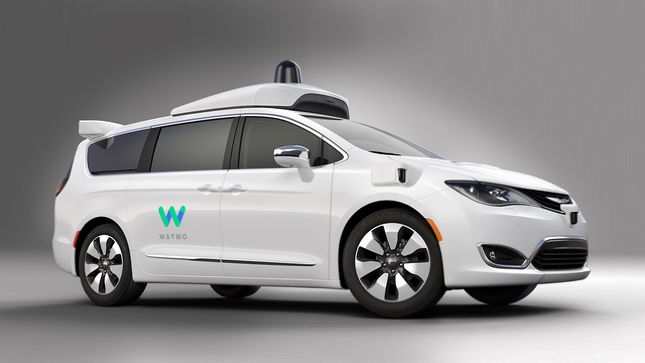 Waymo, Fiat Chrysler announce first self-driving minivan